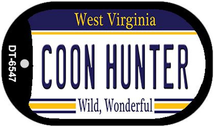 Coon Hunter West Virginia Wholesale Novelty Metal Dog Tag Necklace DT-6547