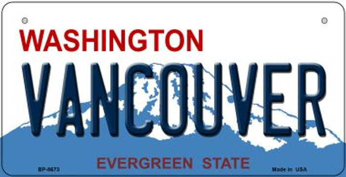 Vancouver Washington Wholesale Novelty Metal Bicycle Plate BP-8673
