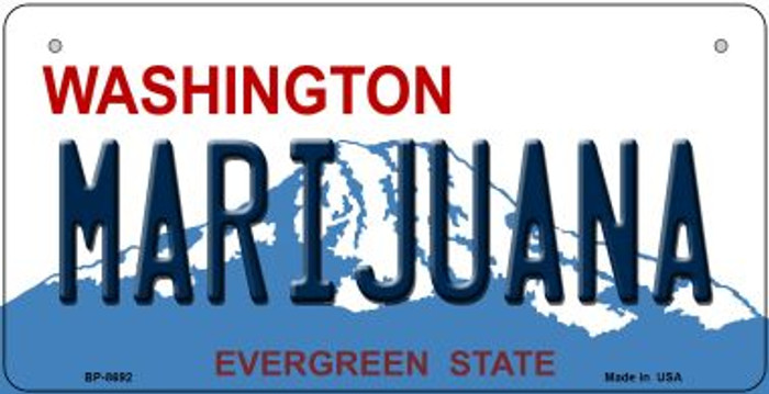 Marijuana Washington Wholesale Novelty Metal Bicycle Plate BP-8692
