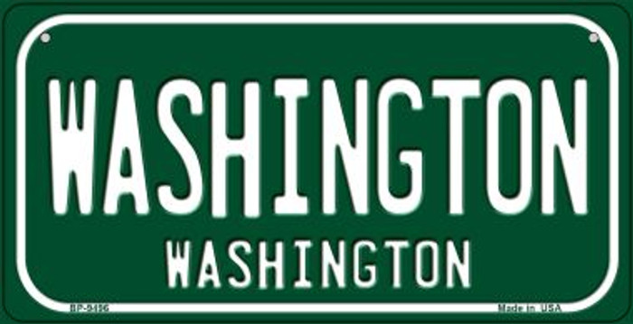 Washington Green Washington Wholesale Novelty Metal Bicycle Plate BP-9496