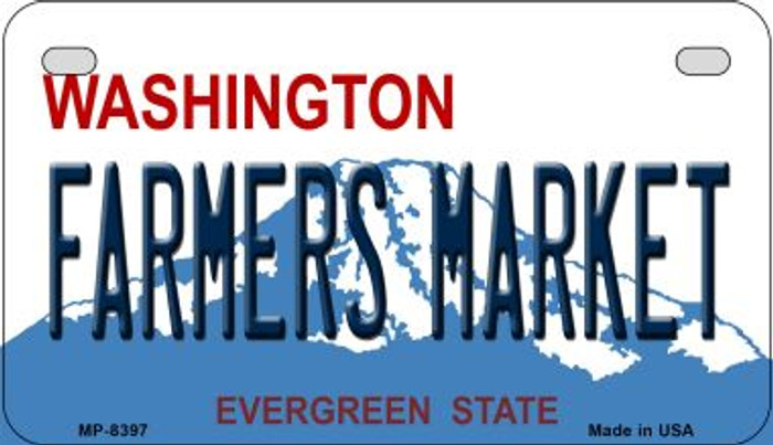 Farmers Market Washington Wholesale Novelty Metal Motorcycle Plate MP-8397