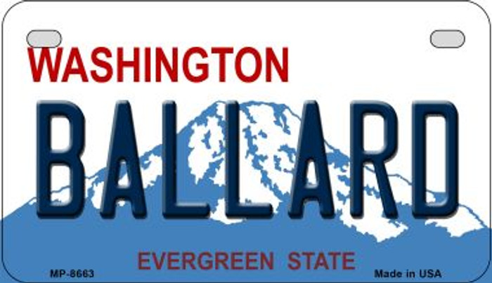 Ballard Washington Wholesale Novelty Metal Motorcycle Plate MP-8663