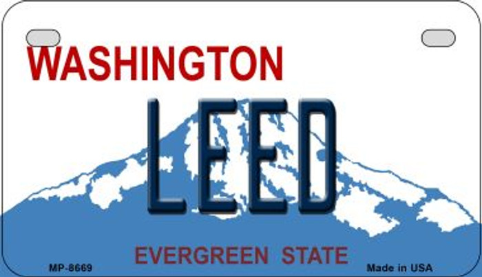 Leed Washington Wholesale Novelty Metal Motorcycle Plate MP-8669