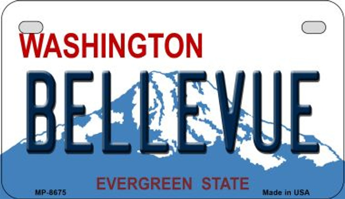 Bellevue Washington Wholesale Novelty Metal Motorcycle Plate MP-8675