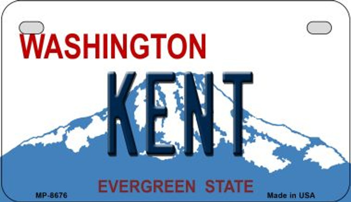 Kent Washington Wholesale Novelty Metal Motorcycle Plate MP-8676