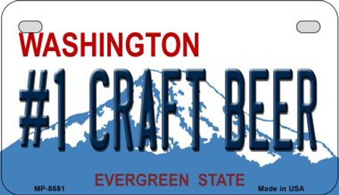 1 Craft Beer Washington Wholesale Novelty Metal Motorcycle Plate MP-8681
