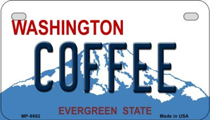 Coffee Washington Wholesale Novelty Metal Motorcycle Plate MP-8682
