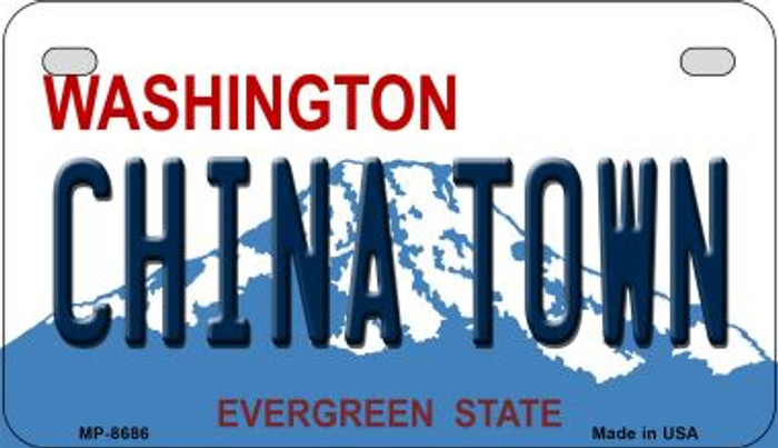 China Town Washington Wholesale Novelty Metal Motorcycle Plate MP-8686