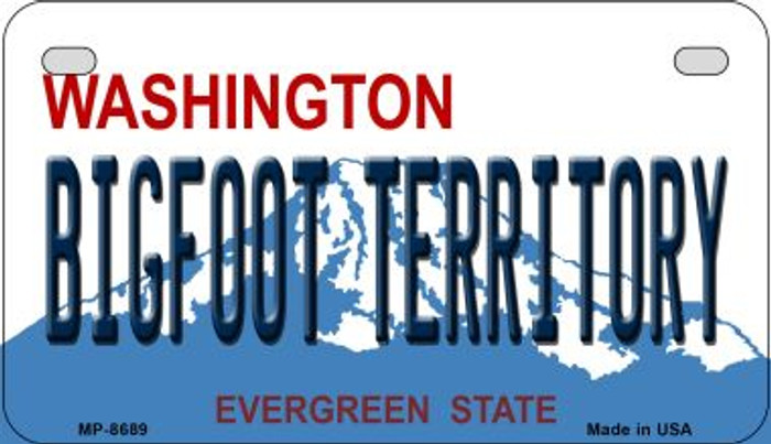 Bigfoot Territory Washington Wholesale Novelty Metal Motorcycle Plate MP-8689