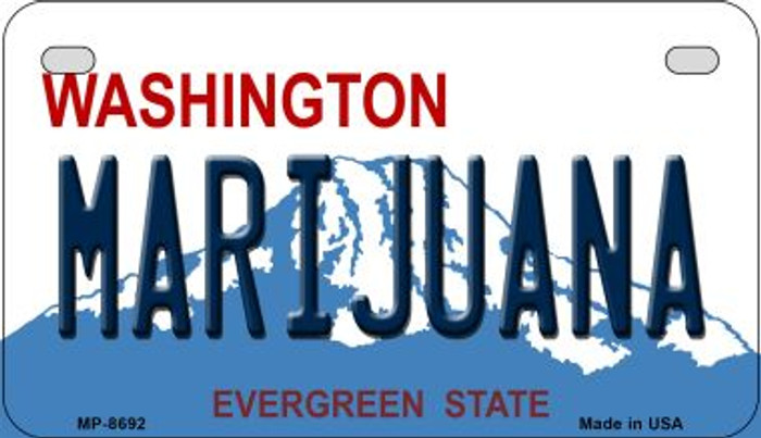 Marijuana Washington Wholesale Novelty Metal Motorcycle Plate MP-8692