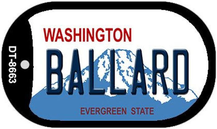 Ballard Washington Wholesale Novelty Metal Dog Tag Necklace DT-8663