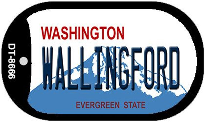 Wallingford Washington Wholesale Novelty Metal Dog Tag Necklace DT-8666