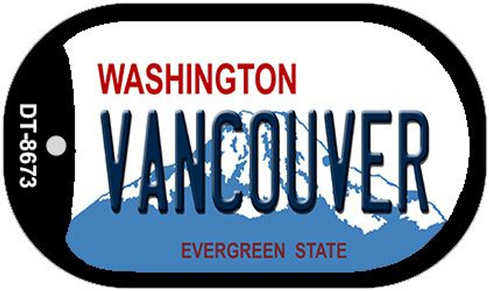 Vancouver Washington Wholesale Novelty Metal Dog Tag Necklace DT-8673