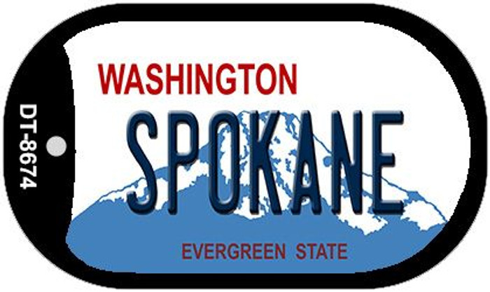 Spokane Washington Wholesale Novelty Metal Dog Tag Necklace DT-8674