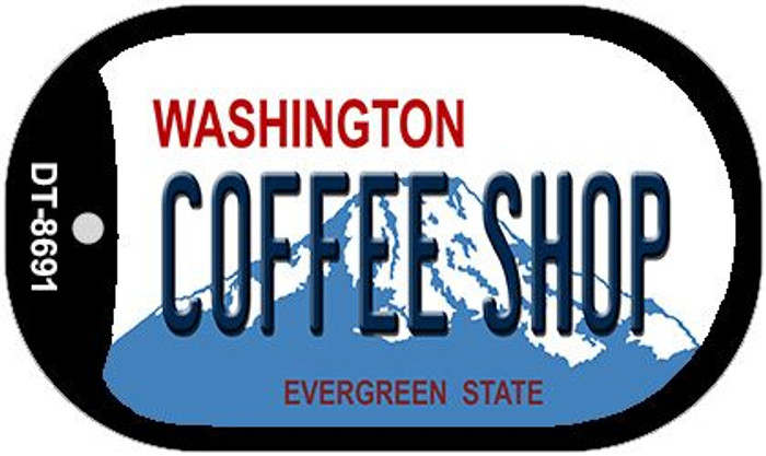 Coffee Shop Washington Wholesale Novelty Metal Dog Tag Necklace DT-8691