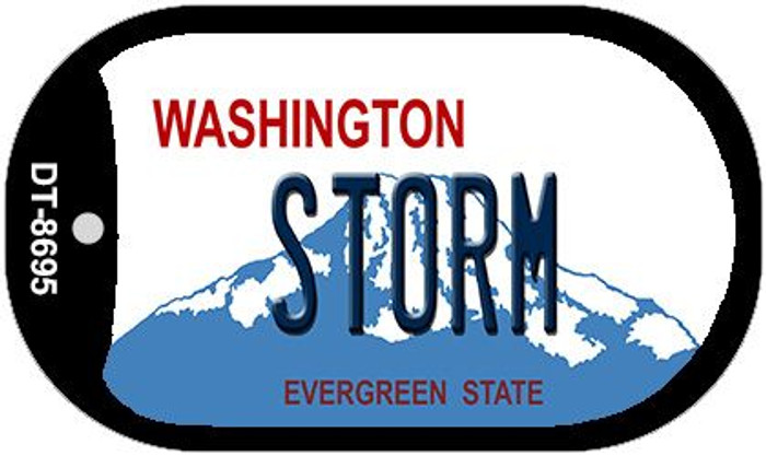 Storm Washington Wholesale Novelty Metal Dog Tag Necklace DT-8695