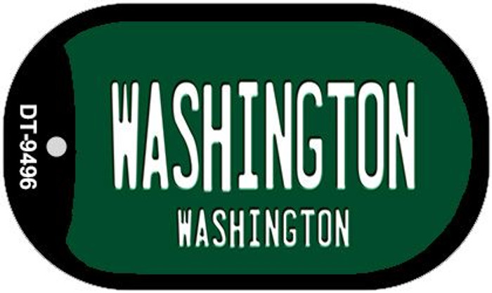 Washington Green Washington Wholesale Novelty Metal Dog Tag Necklace DT-9496