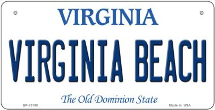Virginia Beach Wholesale Novelty Metal Bicycle Plate BP-10105