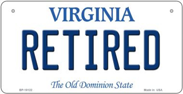 Retired Virginia Wholesale Novelty Metal Bicycle Plate BP-10122