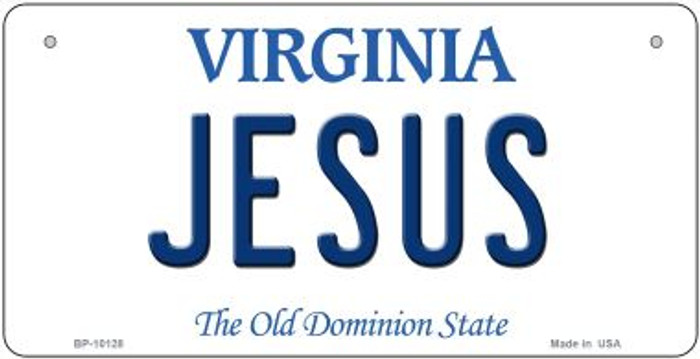Jesus Virginia Wholesale Novelty Metal Bicycle Plate BP-10128