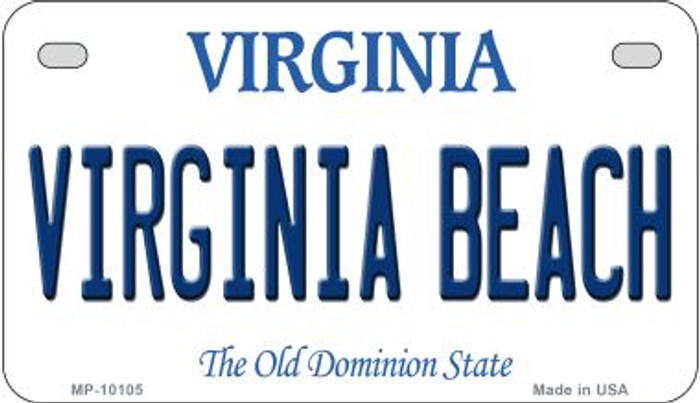 Virginia Beach Wholesale Novelty Metal Motorcycle Plate MP-10105