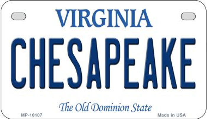 Chesapeake Virginia Wholesale Novelty Metal Motorcycle Plate MP-10107