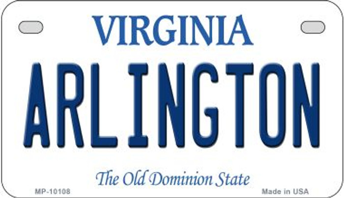 Arlington Virginia Wholesale Novelty Metal Motorcycle Plate MP-10108