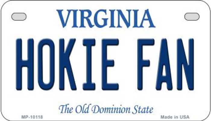 Hokie Fan Virginia Wholesale Novelty Metal Motorcycle Plate MP-10118