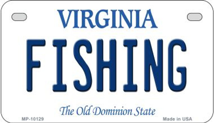 Fishing Virginia Wholesale Novelty Metal Motorcycle Plate MP-10129