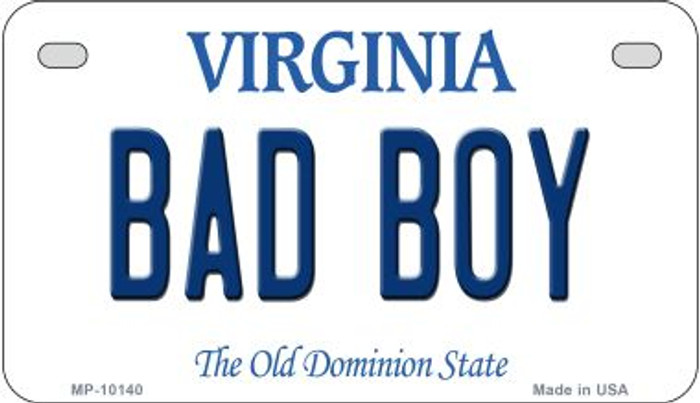 Bad Boy Virginia Wholesale Novelty Metal Motorcycle Plate MP-10140