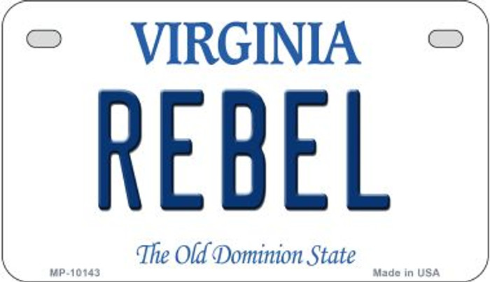 Rebel Virginia Wholesale Novelty Metal Motorcycle Plate MP-10143