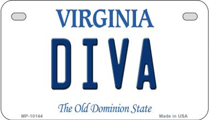 Diva Virginia Wholesale Novelty Metal Motorcycle Plate MP-10144