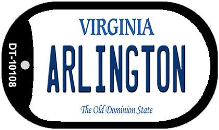 Arlington Virginia Wholesale Novelty Metal Dog Tag Necklace DT-10108