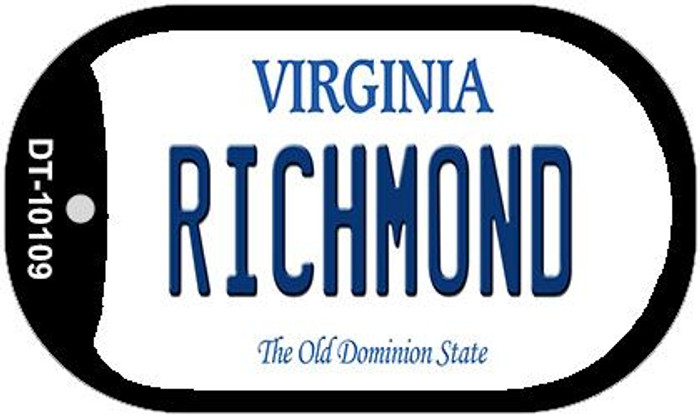 Richmond Virginia Wholesale Novelty Metal Dog Tag Necklace DT-10109