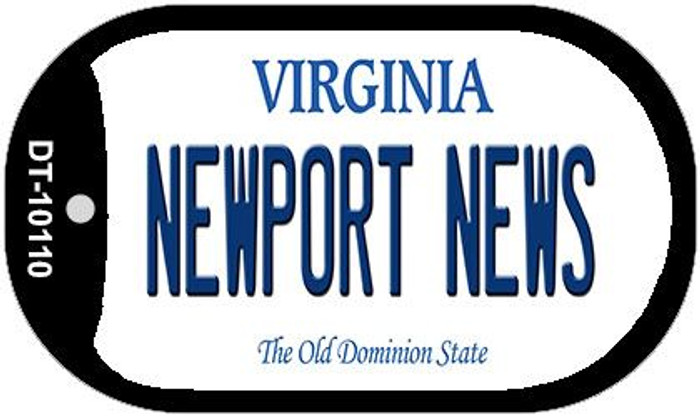 Newport News Virginia Wholesale Novelty Metal Dog Tag Necklace DT-10110