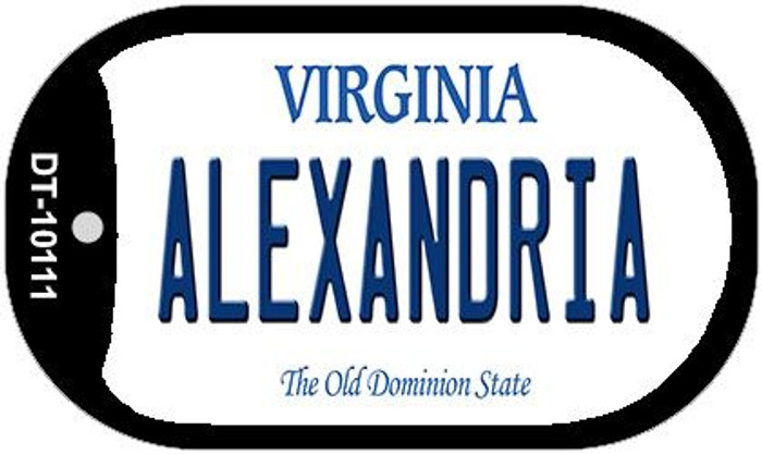 Alexandria Virginia Wholesale Novelty Metal Dog Tag Necklace DT-10111