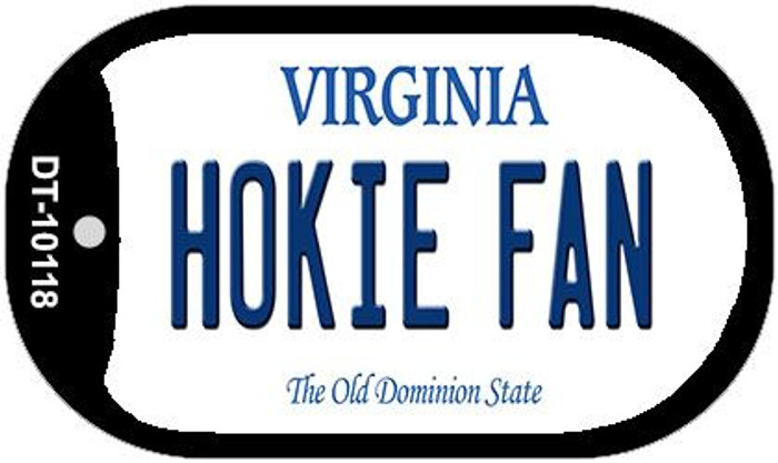 Hokie Fan Virginia Wholesale Novelty Metal Dog Tag Necklace DT-10118