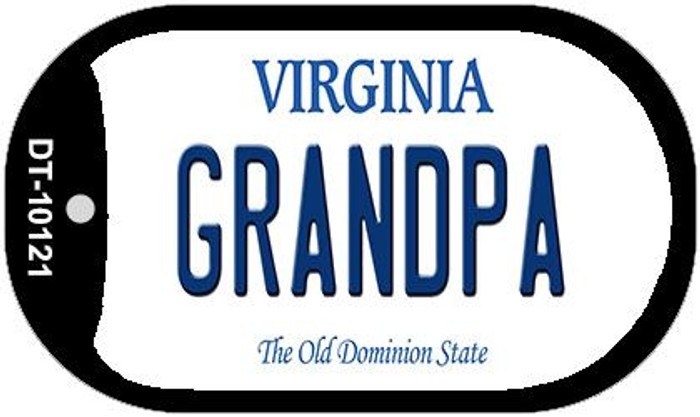 Grandpa Virginia Wholesale Novelty Metal Dog Tag Necklace DT-10121