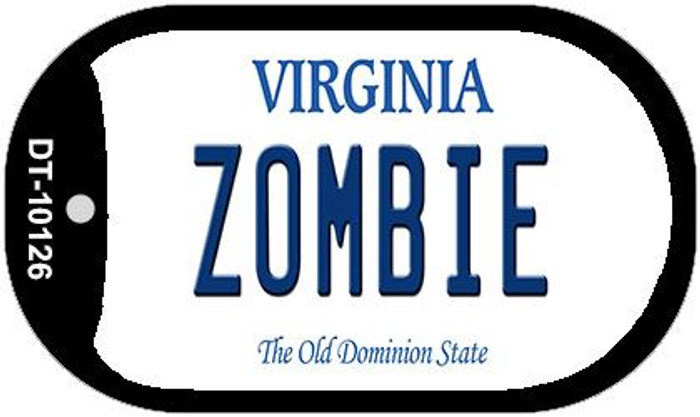 Zombie Virginia Wholesale Novelty Metal Dog Tag Necklace DT-10126