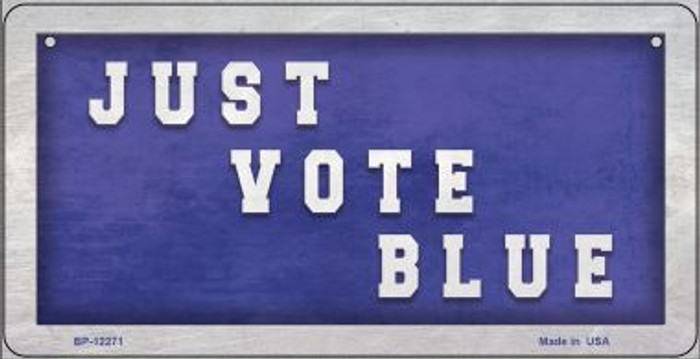 Just Vote Blue Wholesale Novelty Metal Bicycle Plate BP-12271