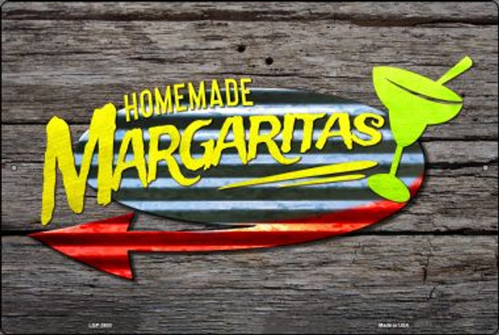Homemade Margaritas Wholesale Novelty Metal Large Parking Sign LGP-2603