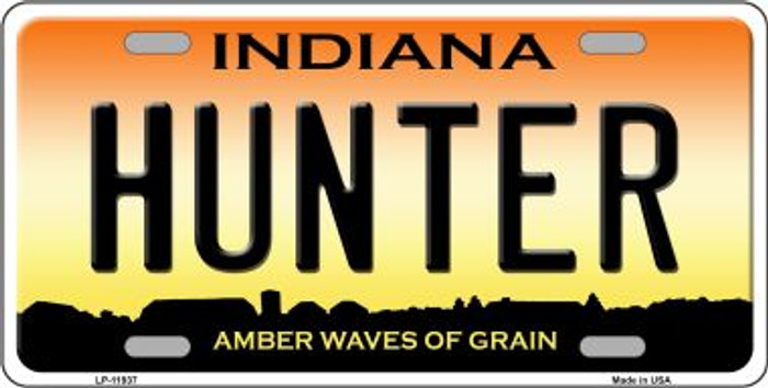 Hunter Indiana Wholesale Novelty Metal License Plate LP-11937