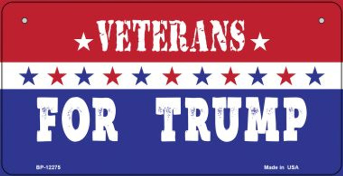 Veterans For Trump Wholesale Novelty Metal Bicycle Plate BP-12275