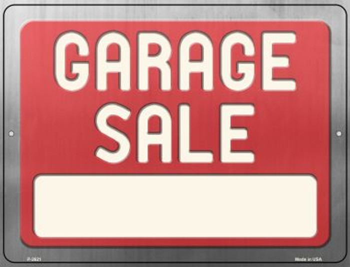 Blank Garage Sale Sign Wholesale Novelty Metal Parking Sign P-2621