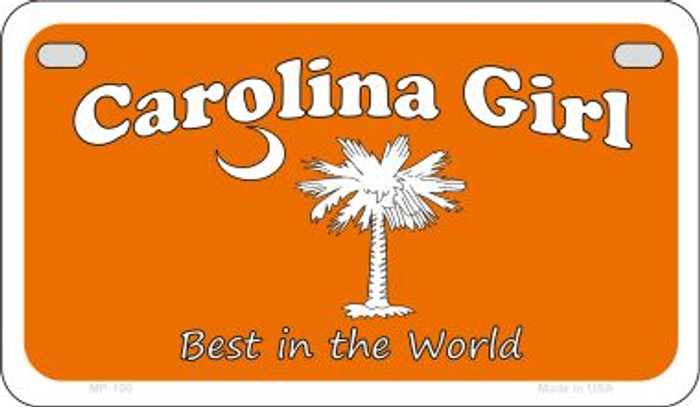 Carolina Girl Orange Wholesale Novelty Metal Motorcycle Plate MP-180