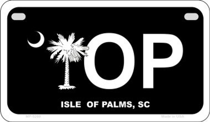 IOP Black South Carolina Wholesale Novelty Metal Motorcycle Plate MP-5260