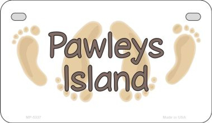 Pawleys Island Footprints Wholesale Novelty Metal Motorcycle Plate MP-5337