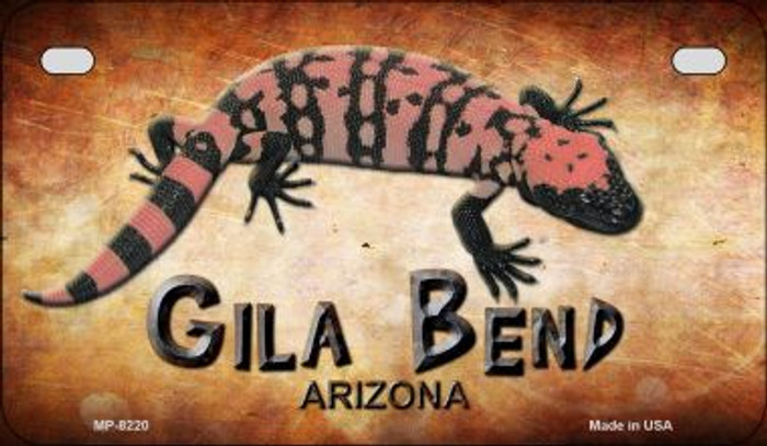 Gila Bend Arizona Wholesale Novelty Metal Motorcycle Plate MP-8220