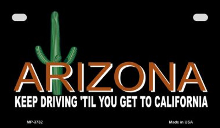 Arizona Keep Driving Wholesale Novelty Metal Motorcycle Plate MP-3732