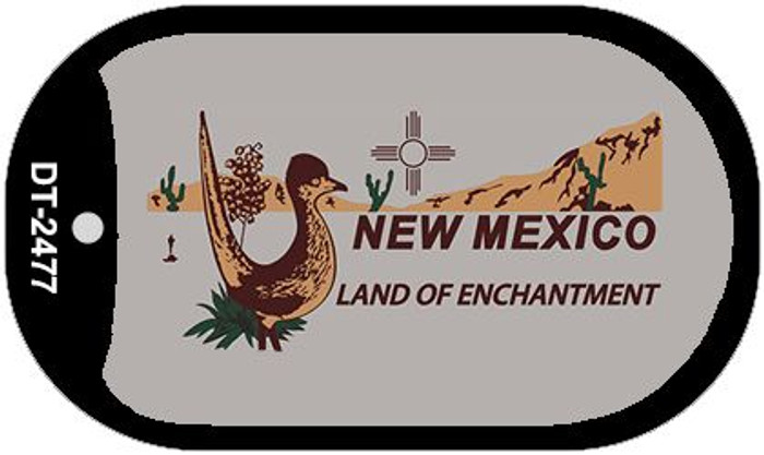 Roadrunner Gray New Mexico Wholesale Novelty Metal Dog Tag Necklace DT-2477